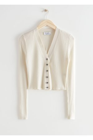 & OTHER STORIES Cropped Rib Knit Cardigan