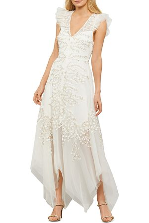 BCBG Max Azria Embroidered Tulle Gown - 100% Exclusive
