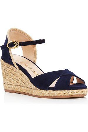 Stuart Weitzman Women Wedges - Women's Mirela Wedge Espadrille Sandals