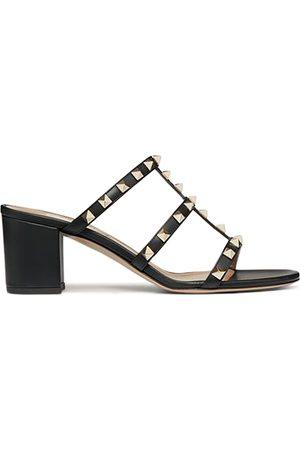 VALENTINO GARAVANI Women Sandals - Women's Rockstud Block Heel Slide Sandals