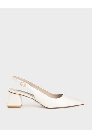 CHARLES & KEITH Metallic Accent Slingback Pumps