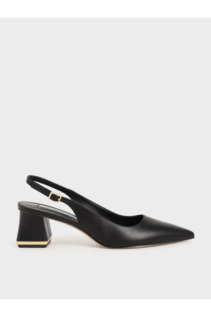 CHARLES & KEITH Women Heels - Metallic Accent Slingback Pumps