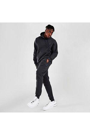 Nicce London Men Sweatpants - Men's Mercury Jogger Pants in Grey/Coal Size Small Cotton/Polyester/Fleece