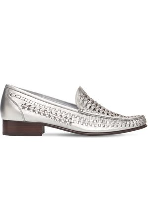 Saint Laurent Men Loafers - 25mm Swann Leather Loafers
