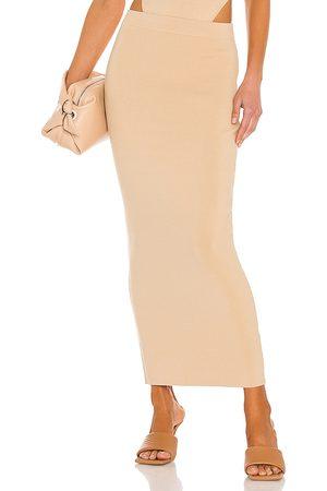 RONNY KOBO Hadwin Skirt in Nude.
