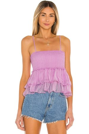 BB Smock Signals Top in Lavender.