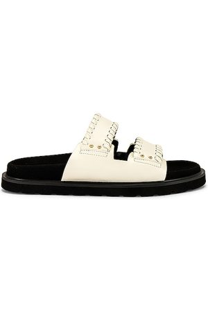 Reike Nen Women Sandals - Turnover Mold Slippers in Ivory.