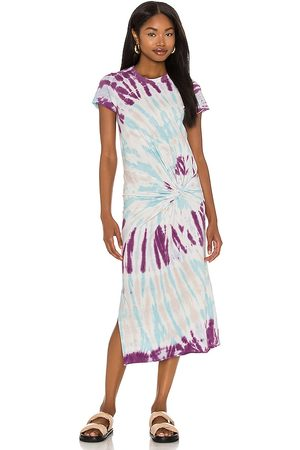 NSF Women Midi Dresses - Zelda Twisted Knot Tee Dress in ,Blue.