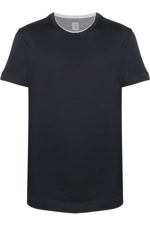 ELEVENTY Contrasting-trim short-sleeve T-shirt