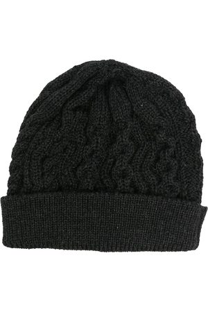 Thom Browne Aran cable merino wool beanie - Grey