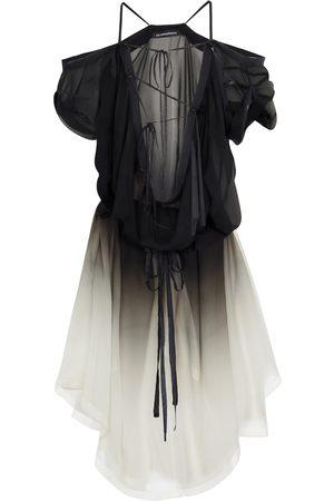 ANN DEMEULEMEESTER Silk chiffon tunic