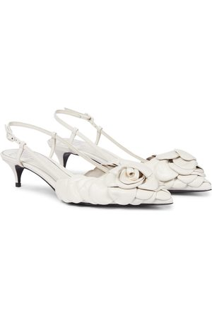 VALENTINO GARAVANI Women Pumps - Atelier 03 Rose Edition leather slingback pumps