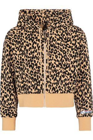 Adam Selman Sport Shrunken leopard-print hoodie