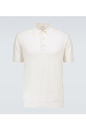 CARUSO Silk and cotton polo shirt