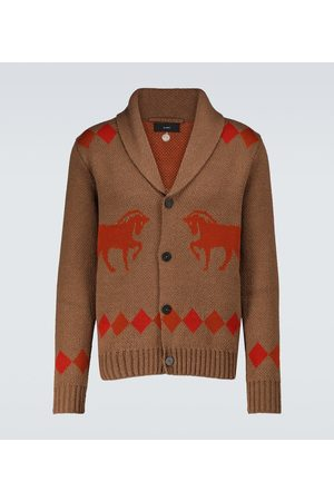 Alanui Wild Roads cotton and wool cardigan