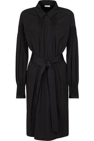 DRIES VAN NOTEN Belted cotton shirt dress