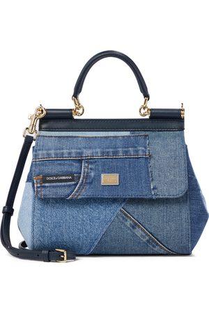Dolce & Gabbana Sicily Small denim shoulder bag