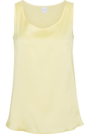 Max Mara Leisure Pan stretch-silk satin tank top