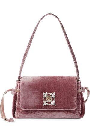 Roger Vivier Miss Vivier embellished velvet shoulder bag