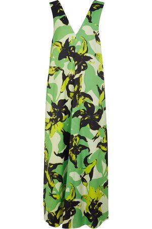 DRIES VAN NOTEN Floral satin maxi dress