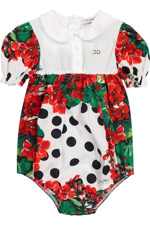 Dolce & Gabbana Rompers - Baby floral cotton bodysuit