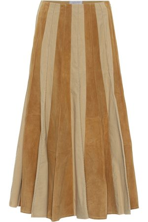 GABRIELA HEARST Women Leather Skirts - Ernst suede and cotton midi skirt
