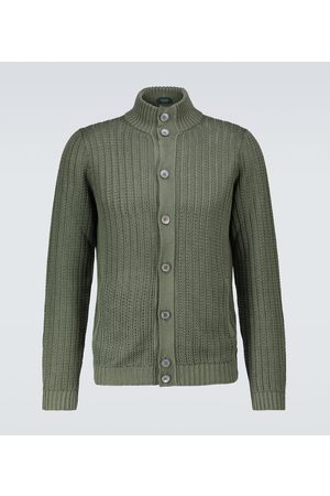 ZANONE Men Cardigans - Linen and cotton cardigan