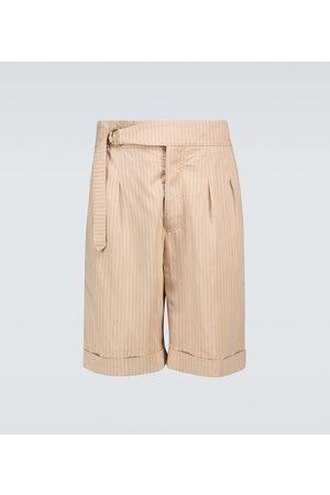 Nanushka Nagi striped belted shorts