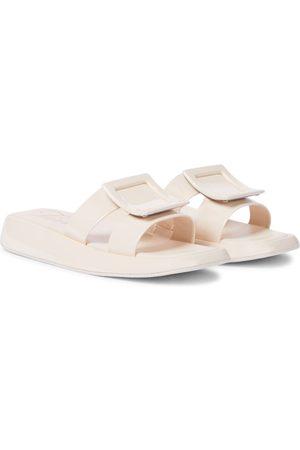 Roger Vivier Vivier Slide patent leather sandals