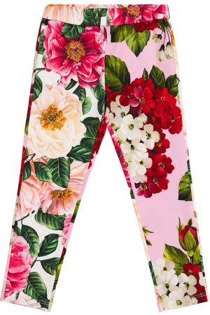 Dolce & Gabbana Floral stretch-cotton leggings