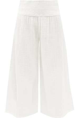 Anaak Maya Shirred-waist Cotton-muslin Culottes - Womens