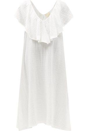 Anaak Brigitte Ruffled V-neck Cotton Dress - Womens