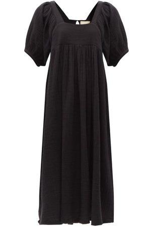 Anaak Brigitte Square-neck Cotton-muslin Midi Dress - Womens