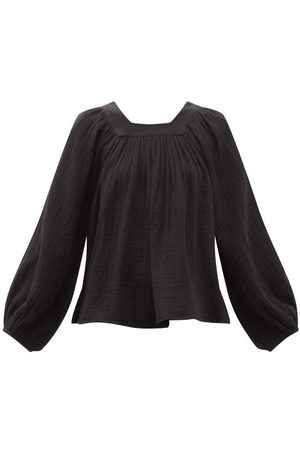 Anaak Women Blouses - Carrie Mae Square-neck Cotton Blouse - Womens