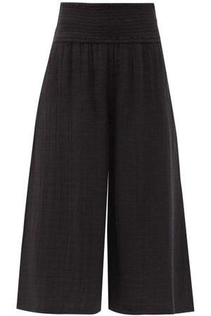 Anaak Maya Shirred-waist Cotton-muslin Culottes - Womens