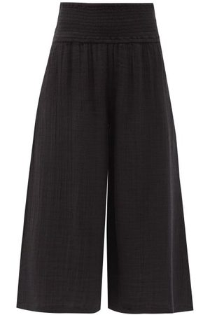 Anaak Women Culottes - Maya Shirred-waist Cotton-muslin Culottes - Womens