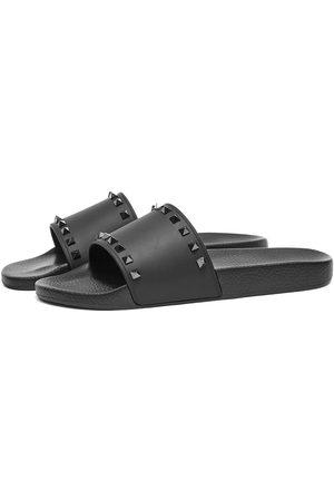VALENTINO Men Sandals - Rockstud Pool Slide