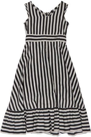 MONNALISA Girls Printed Dresses - Stripes Print Viscose Dress