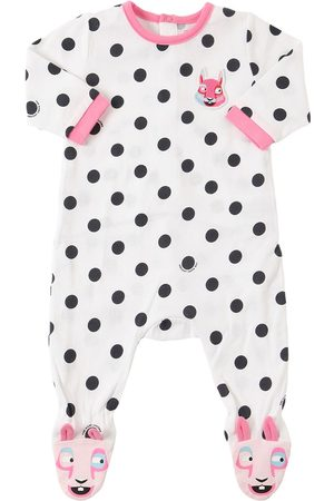 Marc Jacobs Girls Playsuits - Dots Print Cotton Jersey Romper
