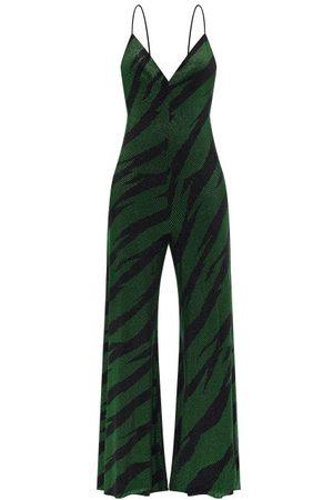 ALEXANDRE VAUTHIER Crystal-embellished Jersey Jumpsuit - Womens - Multi