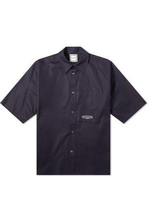 WOOYOUNGMI Short Sleeved Back Print Shirt