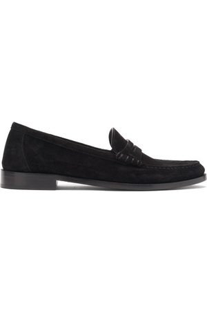 Saint Laurent Suede Penny Loafers - Mens