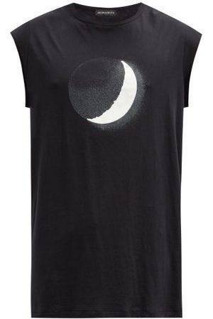 ANN DEMEULEMEESTER Moon-print Cotton-jersey T-shirt - Mens