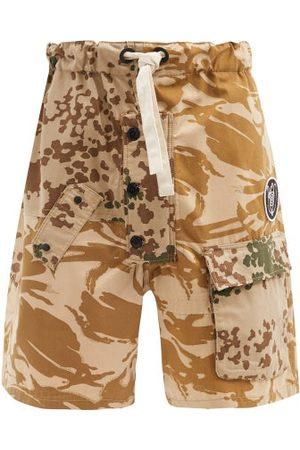Eye/LOEWE/nature Camouflage-print Upcycled Cotton-blend Shorts - Mens - Multi