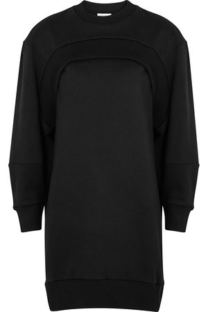 Alexander McQueen Logo-embroidered cotton sweatshirt dress