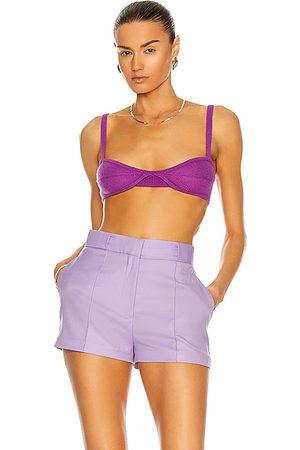 Khaite Eda Bralette in Purple