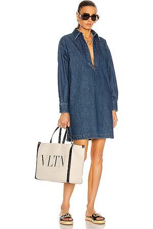 VALENTINO GARAVANI Polo Mini Dress in Denim-Medium