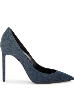 Saint Laurent Anja 100 blue denim pumps