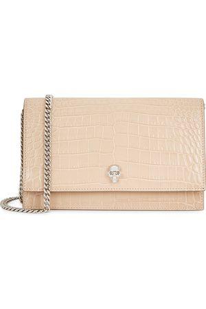 Alexander McQueen Women Purses - Medium crocodile-effect leather shoulder bag