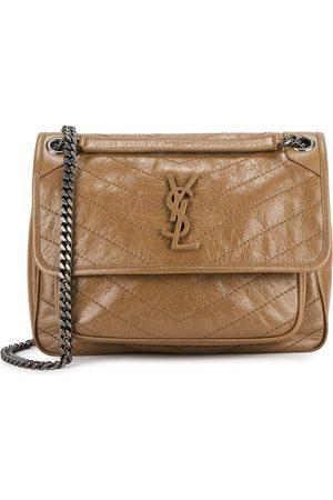 Saint Laurent Niki medium camel leather shoulder bag